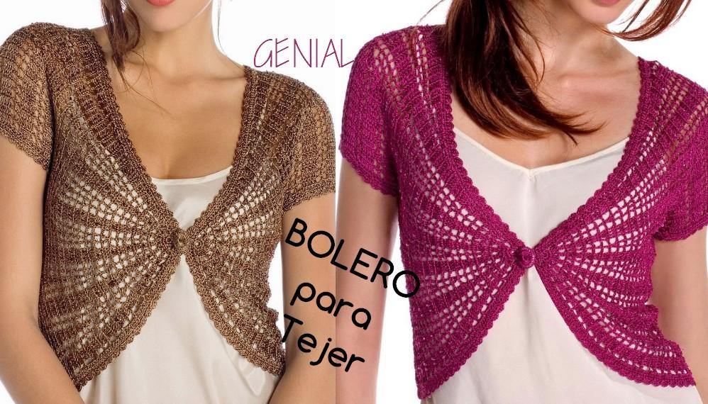 Elegante Bolero en Crochet - Patrón libre - GanchilloGanchillo