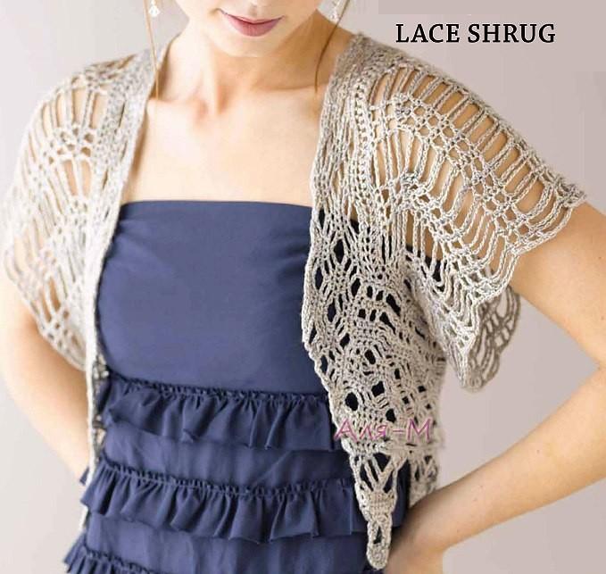 crochet bolero elegante (3)