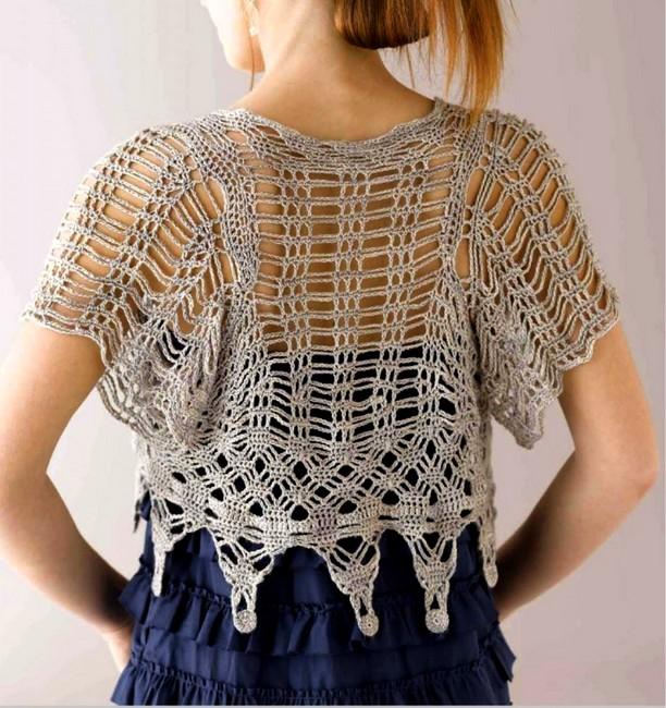 crochet bolero elegante (4)