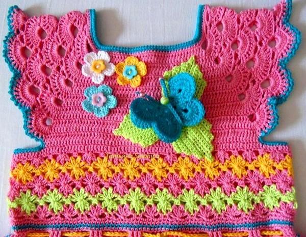 Puntos a crochet para vestidos de nina