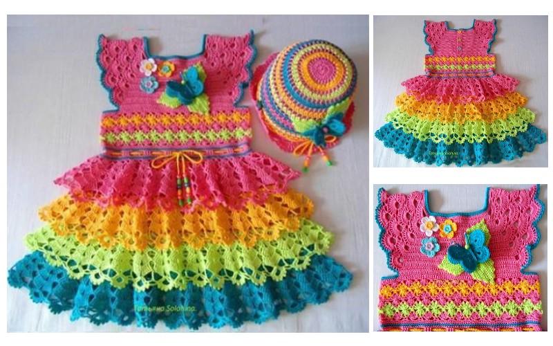 vestido-a-crochet-para-nina 3