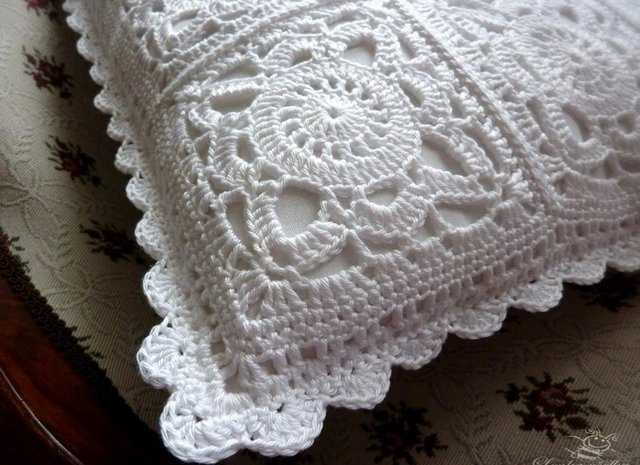 Precioso cuadro para cojines de crochet ganchilloganchillo - Cojin de crochet ...