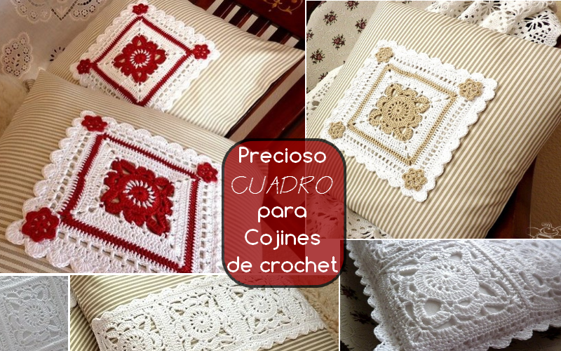 Precioso Cuadro para Cojines de crochet - CROCHET PASO A PASO