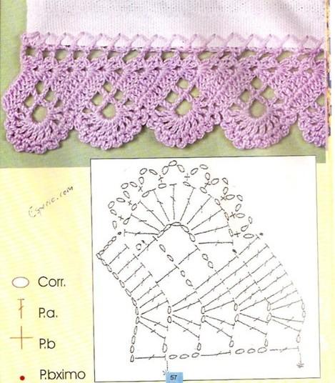 Puntillas y bordes de Crochet (11)
