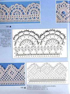 Puntillas y bordes de Crochet (27)