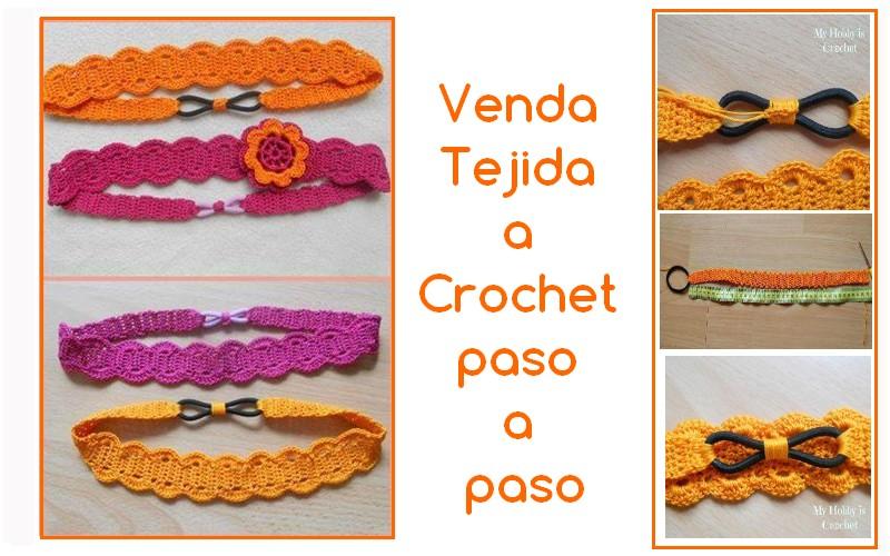 Venda Tejida a Crochet paso a paso - GanchilloGanchillo