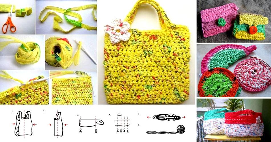 crochet bolsas plastico