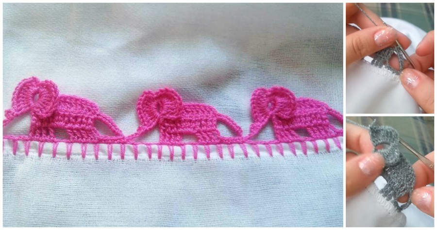 Increíble Borde de Elefante en Crochet - GanchilloGanchillo