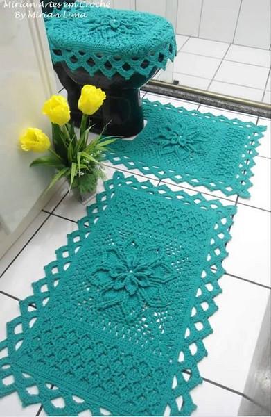 Juego Para El Baño Tejido A Crochet Ganchilloganchillo
