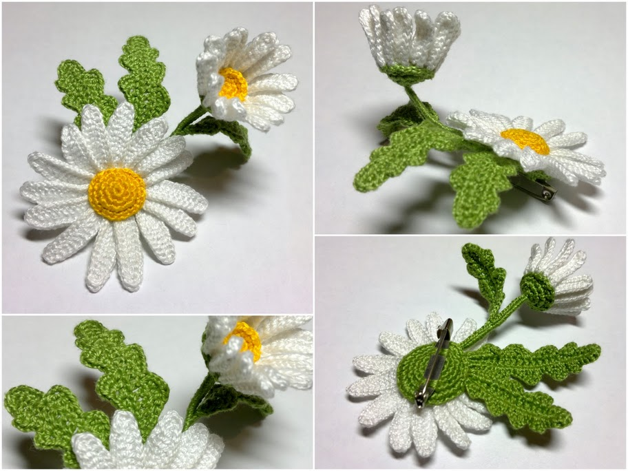 Flor de margarita a crochet + Videos y tutorial - GanchilloGanchillo