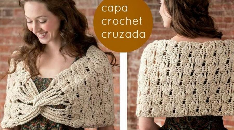 Capa en Crochet Cruzada con Patron - GanchilloGanchillo