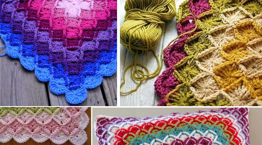 Punto Baviera a crochet- paso a paso - GanchilloGanchillo