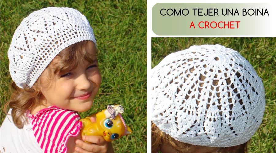 Cómo tejer una boina crochet - tutorial - GanchilloGanchillo
