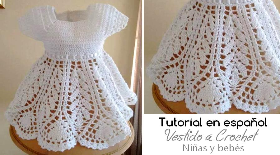 Tutorial En Español De Vestido A Crochet Para Niña