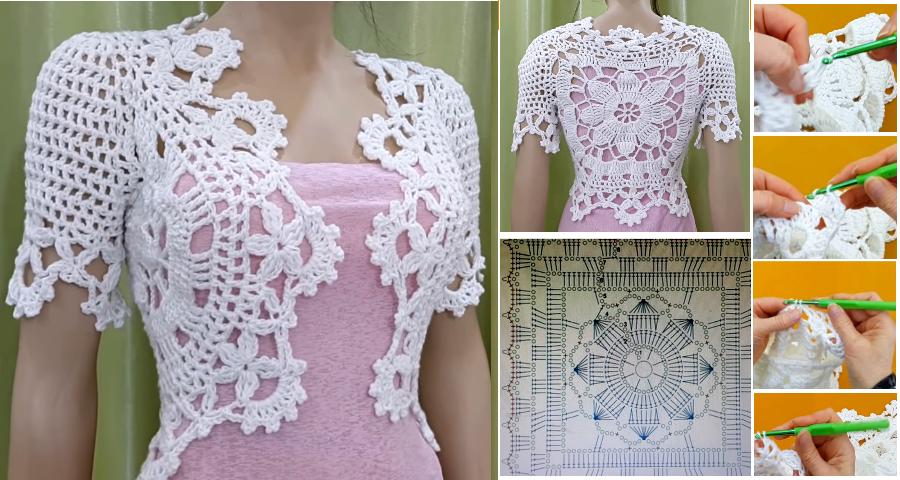 Tutorial Bolero Crochet o Ganchillo en Español - GanchilloGanchillo