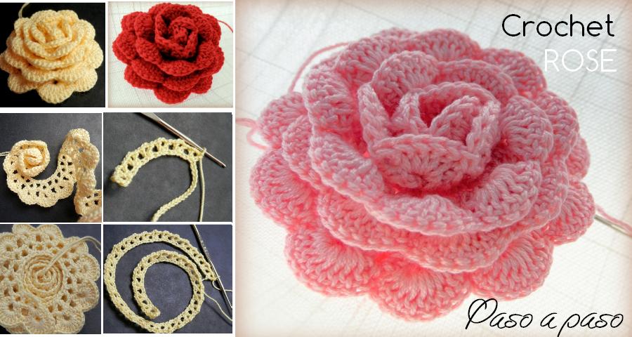 Como hacer Rosas a crochet paso a paso GanchilloGanchillo