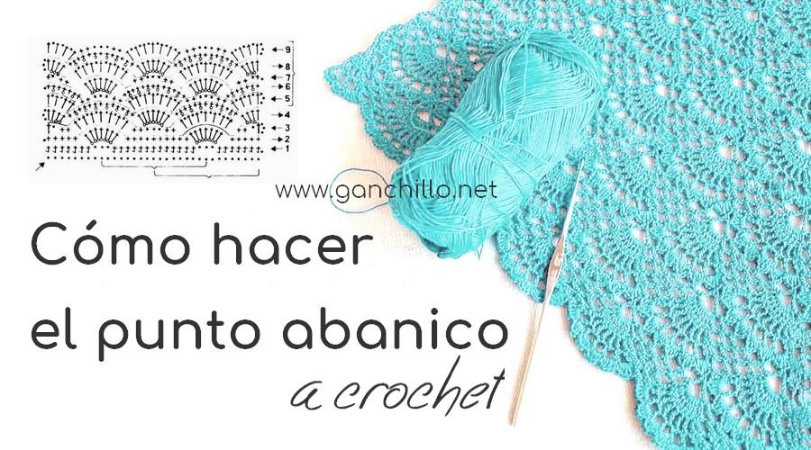 Cómo hacer el punto abanico a crochet - GanchilloGanchillo